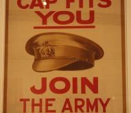 Affiche britannique recrutement volontaires, guerre de 14-18, exposition join Now ! , Musée Grande Guerre, Meaux, ©Christophe Courau
