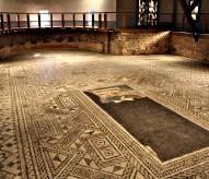 www.balades-historiques.com, mosaique antique Grand, Vosges, découverte en 1883. ©Christophe Courau