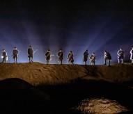 """spectacle son et lumière, Des flammes à la Lumière"""" Verdun 1916, connaissance de la Meuse, poilus, christophe courau, www.balades-historiques.com, balade historique"""