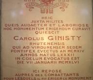 ossuaire de Douaumont, pierre tombale, monsigneur Ginisty, éveque de Verdun, www.balades-historiques.com, balade historique, ©christophe Courau