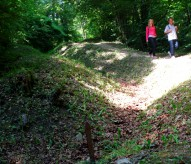 boyau, verdun forêt de verdun, balade historique, www.balades-historiques.com, tranchée