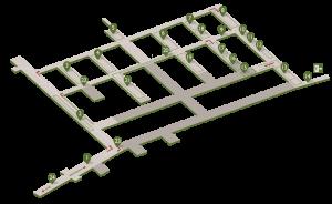 la carte virtuelle des Jersey war Tunnels