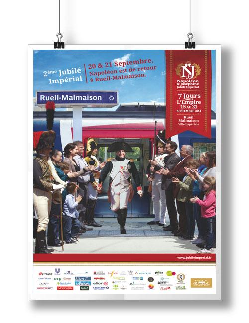 poster jubile imperial Rueil Malmaison, Haut de Seine , Ile France, balade historique, www.balades-historiques.com