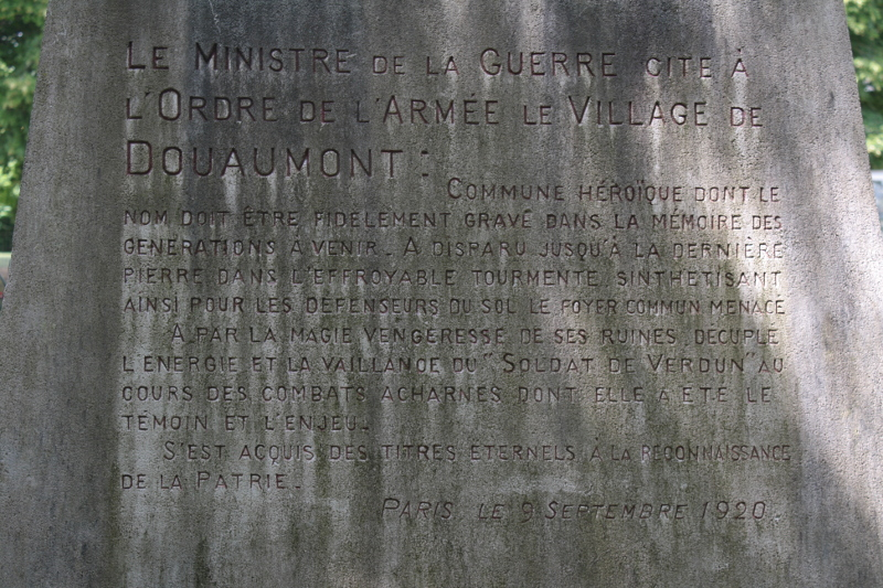 Douaumont, bataille de Verdun, commune mort pour la France, balade historiques, www.baladeshistoriques.com