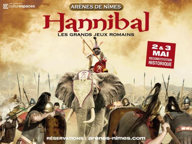 arenes_de_nimes, grands_jeux_romains, Hannibal, mai_2015, balade_historique, www.balades-historiques.com, nîmes spectacle jeux romains