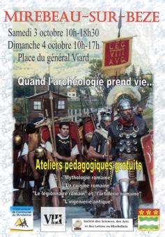 légion romaine, VIII légion, Mirebeau sur bèze, journées romaines, balade historique, www.balades-historiques.com
