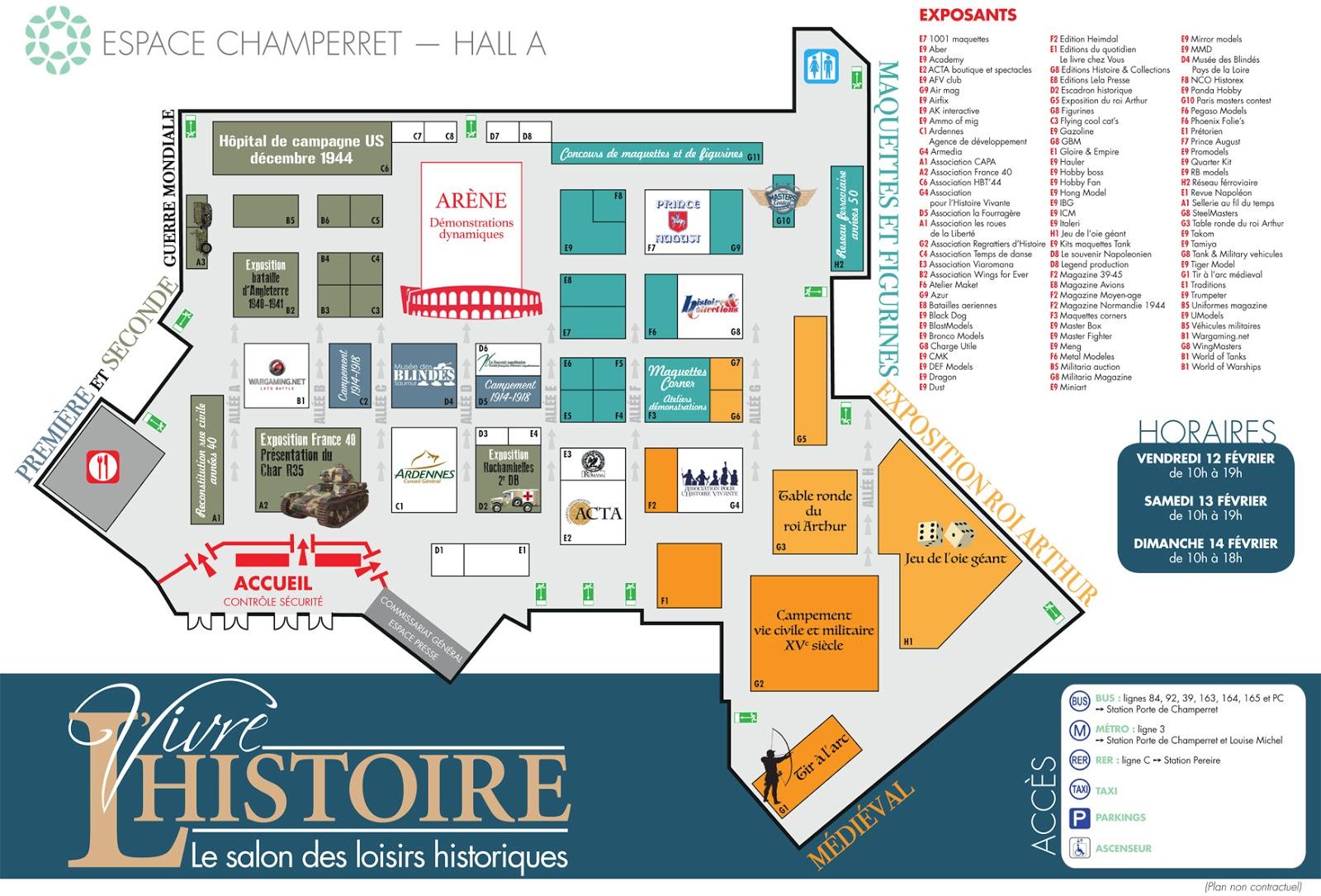 Plan salon vivre l'histoire 2016, paris, balade historique, www.balades-historiques.com