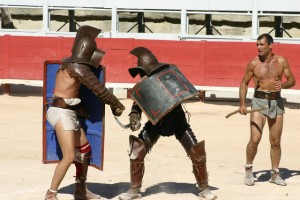 combat gladiateurs, salon loisirs historiques, Paris , février 2016, balade historique, www.balades-historiques.com