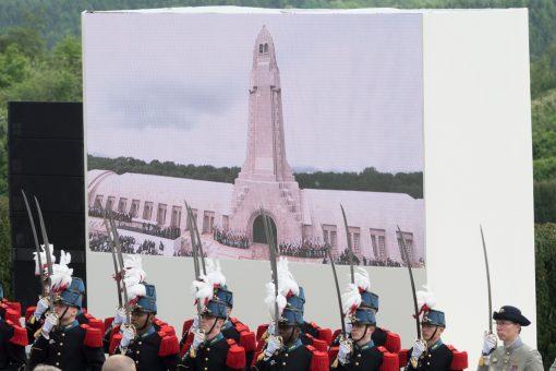 Meuse- Verdun - Centenaire de la Bataille de Verdun-Cérémonie co-présidée par François Hollande et Angela Merkel. Ossuaire et nécropole de Douaumont. Eric Beracassat
