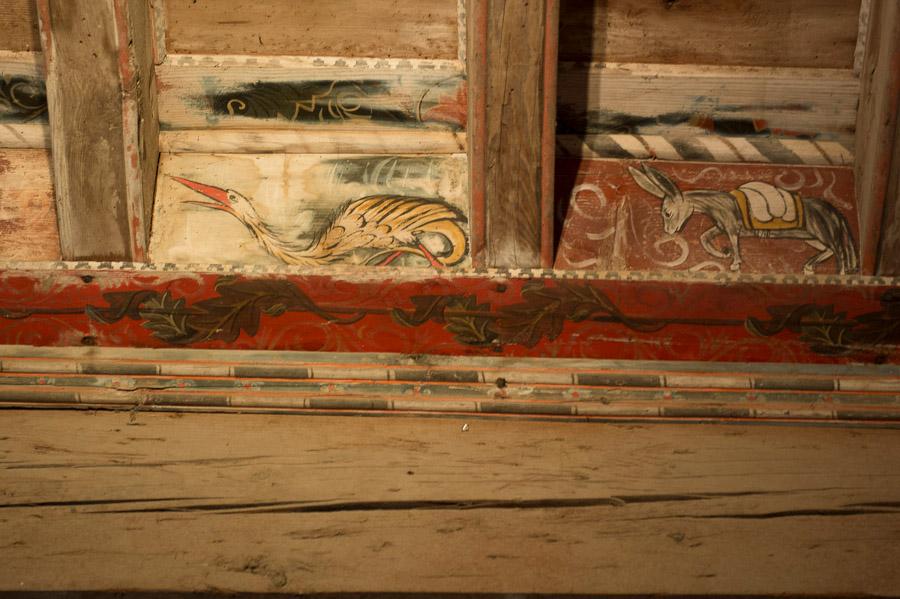 hérault, château de Capestang, plafond peint, balade historique, www.balades-historiques.com, canal du midi