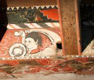 plafond peint, peinture moyen age, chateu de capestang, balade historique, www.balades-historiques.com, eric beracassat