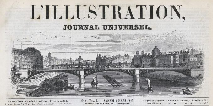 1843, l'Illustration, numéro 1, balades historiques, balade historique