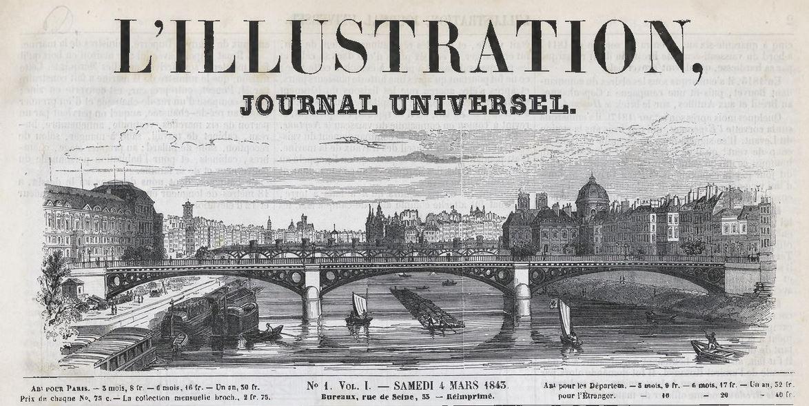 1843, lÍllustration, numéro 1, balades historiques, balade historique