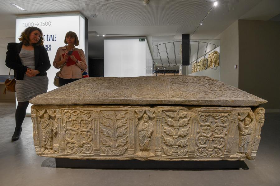 Eric Beracassat, musee de la romanité, Nimes, sarcophage de Valbonne, balades historiques