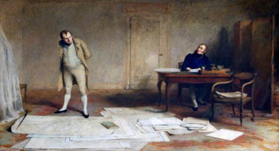 Napoléon-a Sainte-Hélène-dictant-ses-Mémoires-au-comte-Las-Cases